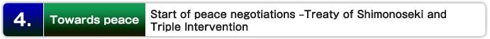 4.  Hacia la paz: Inicio de las negociaciones de paz en el Tratado de Shimonoseki y de Intervención Triple
